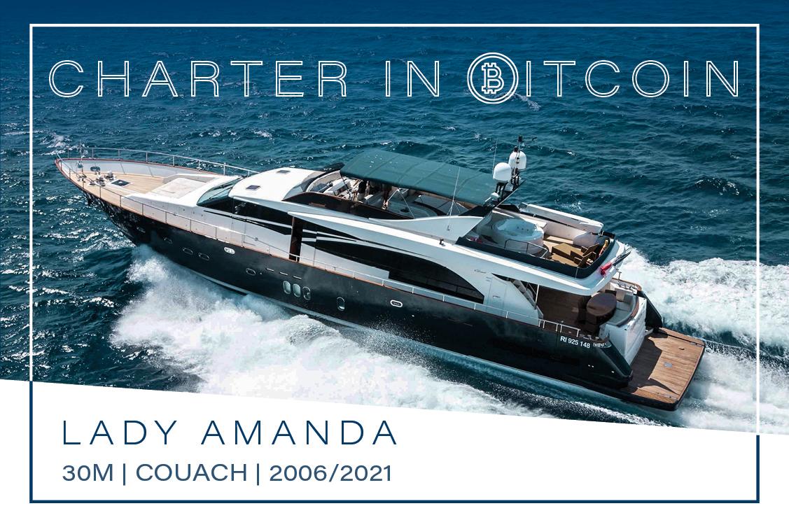Yacht Lady Amanda Now Accepts Bitcoin