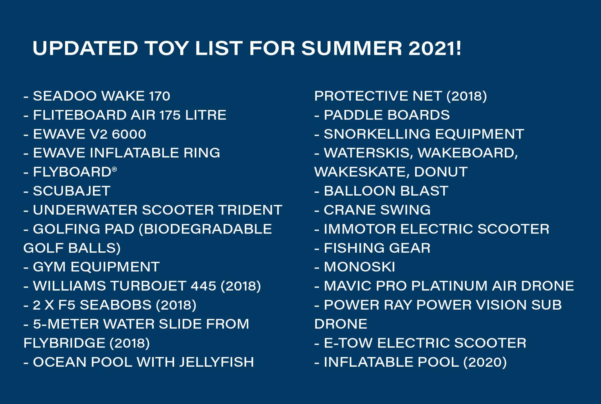 Lady Amanda Toy list 2021